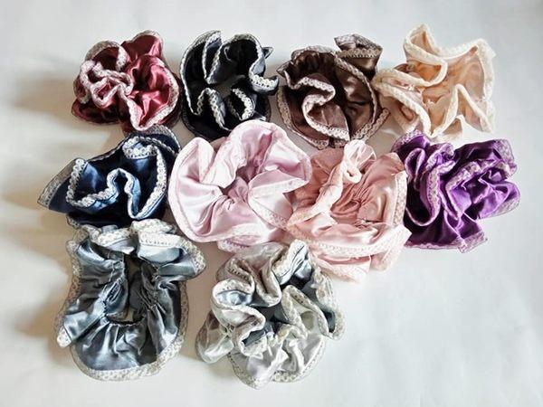 髮圈大腸圈髮束 小蕾絲花邊韓系甜美造型韻味獨特十色