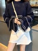 秋裝新款慵懶風毛衣女長袖韓版學生百搭修身顯瘦chic網紅上衣
