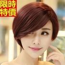 短假髮整頂假髮-時尚俐落斜瀏海自然有型女美髮用品5色66ag3【巴黎精品】