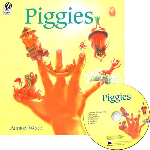 『繪本123‧吳敏蘭老師書單』-- PIGGIES  /硬頁書+CD
