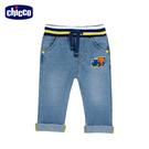 chicco-工程車-水洗針織牛仔長褲