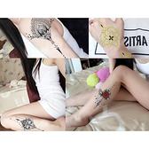 紋身貼紙 刺青貼紙 胸骨 紋身貼 刺青貼 刺青紋身 防水 仿真 身體彩繪 復古 韓國紋身 8064