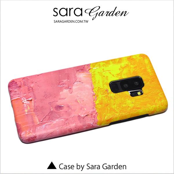 客製化 手機殼 三星 S9 S9+ A8 A8+ 2018 J7 J7+ Plus Note8 保護殼 藝術撞色粉黃