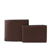 【COACH】素面全皮對開短夾(附證件夾)(咖啡色)F74991 MAH