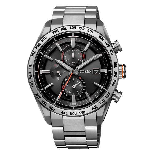 CITIZEN GENT'S光動能鈦金屬卓越時尚男腕錶-銀X黑