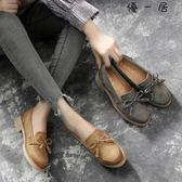 樂福鞋女流蘇中粗跟牛津鞋小皮鞋Y-4125
