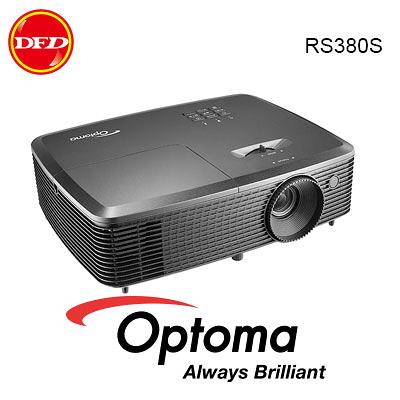 OPTOMA 奧圖碼 RS380S SVGA多功能投影機 3,800 流明度 10,000小時新世代長效燈泡 10 bit色彩處理 公司貨