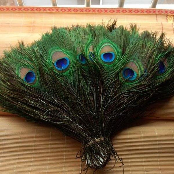 羽毛 孔雀毛 孔雀羽毛 (25-30cm) 捕夢網 公雞毛 鵝毛 民族風 插花居家 DIY佈置 婚慶擺設【塔克】