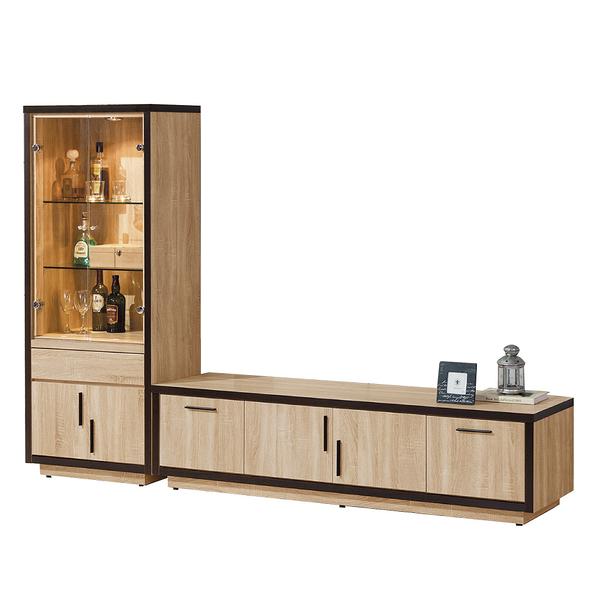【采桔家居】喬蘿蒂 時尚8.4尺電視櫃/視聽櫃組合(電視櫃+展示櫃)