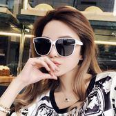 太陽鏡-太陽新款女韓版海邊度假大框白色偏光墨鏡 花間公主