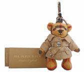 【BURBERRY】風衣造型cashmere Thomas泰迪熊吊飾/key圈 8003331 A2442