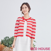 RED HOUSE-蕾赫斯-亮眼條紋針織外套(共2色)