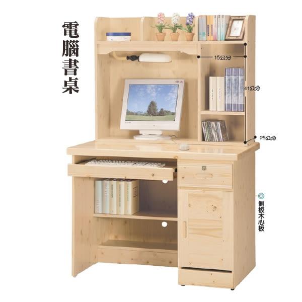 【水晶晶家具/傢俱首選】佐賀3.2*5.2呎松實木雙層書桌~~另有電腦書桌款可選 SY8175-3