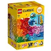 LEGO 樂高 Classic 經典系列 11011 經典套裝顆粒與動物 【鯊玩具Toy Shark】