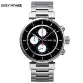三宅一生ISSEY MIYAKE W系列SILAY001Y W系列帥氣儀錶板三眼鋼帶錶x42mm黑 公司貨|名人鐘錶高雄門市