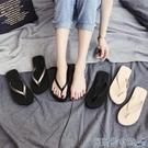 夾腳拖鞋 2021年新款人字拖女外穿時尚夾腳拖鞋防滑沙灘海邊ins潮夏涼拖 快速出貨