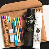 文具盒男女韓版簡約多功能大容量鉛筆簾初中學生小學生創意捲筆袋