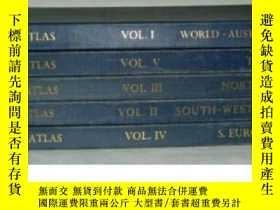 二手書博民逛書店the罕見times atlas 泰晤士世界地圖集(世紀中葉版)Y278470 泰晤士報 出版1955