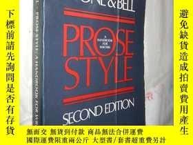 二手書博民逛書店Stone罕見& Bell, Prose Style: A Ha