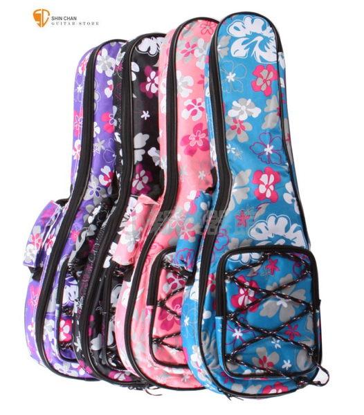 【26吋烏克麗麗厚袋】獨家限定款-夏威夷Hula扶桑花26吋烏克麗麗厚袋(小花袋)