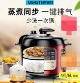 薩美特電壓力鍋小迷型電高壓鍋家用自動小型5升6L飯煲1-2-3-4-5人 NMS台北日光