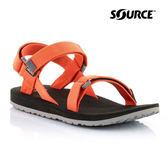 SOURCE 女URBAN織帶涼鞋101092OG【橘灰】/ 城市綠洲(織帶、輕量、快乾、抑菌)