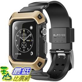 [106美國直購] SUPCASE 金色 42mm Apple Watch 2 or 3 Case (含錶帶) 保護殼 [Unicorn Beetle Pro]