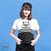 【2%】2% X Monster  黑白怪獸T恤