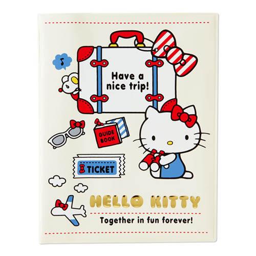 Sanrio HELLO KITTY PVC護照收納套(旅行小物)★funbox生活用品★ 594229