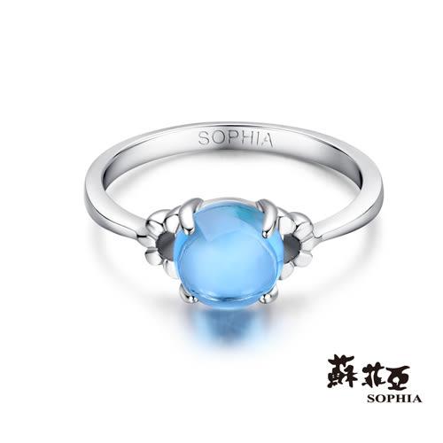 蘇菲亞SOPHIA - 玩美寶石系列 花型藍黃玉寶石戒指