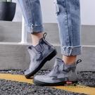 雨鞋男韓版短筒低筒雨靴膠鞋潮套鞋廚房工作洗車防水防滑春夏水鞋「時尚彩紅屋」