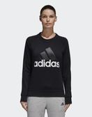 Adidas長袖運動上衣 女款 黑色舒適 大LOGO NO.S97079