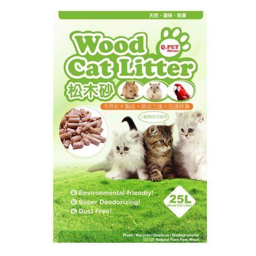 *KING WANG*Q.PET Wood Cat Litter  松木貓砂 8L