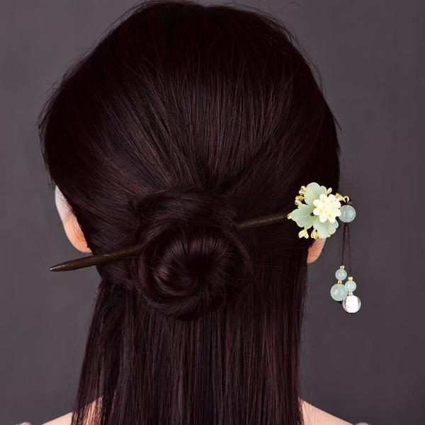 簡約復古風髪簪女古裝古代旗袍明制漢服頭飾盤髪簪子流蘇飾品日常 髪插