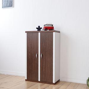 《Accessco》日系雙色六格二門厚板收納書櫃(胡桃白)胡桃白