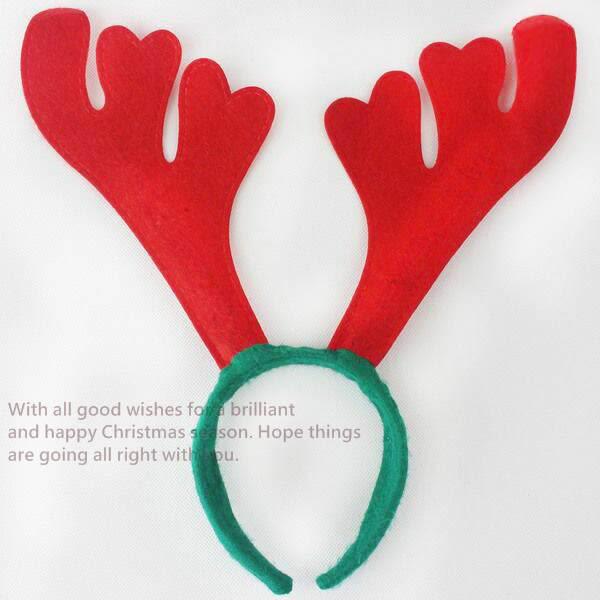 聖誕節 耶誕節 鹿角髮圈 鹿角髮夾 麋鹿髮箍 麋鹿 麋鹿角(紅色) 麋鹿 髮箍 頭飾【塔克】