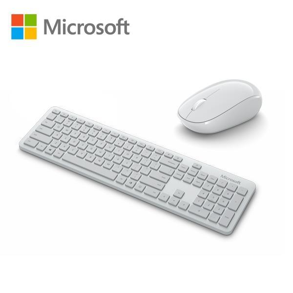微軟 精巧藍牙®鍵鼠組(月光灰/霧光黑) 現代化、簡潔且舒適