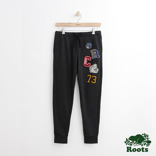 Roots - 女裝 - ROOTS徽章修身慢跑褲 - 黑色