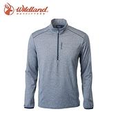 【Wildland 荒野 男彈性麻花保暖上衣 《灰》】0A62618/立領/戶外/登山