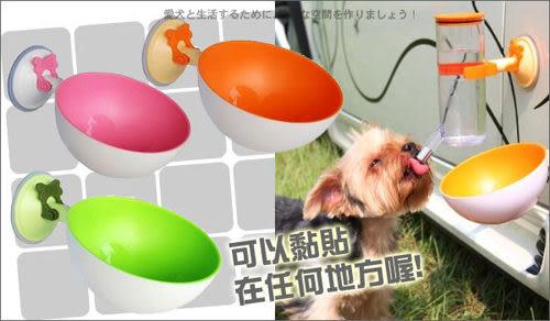 [寵樂子] [創意產品]寵物便利貼耐磨咬狗碗+隨意貼吸盤-3色