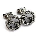 【奢華時尚】GUCCI 復古925純銀雕花 Interlocking G 925純銀雙G墜飾耳環