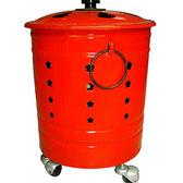 D002 烤漆紅金爐[M]直徑約34cm