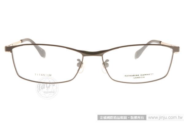 KATHARINE HAMNETT 光學眼鏡 KH9118 C04 (黑-金) 日本工藝簡約沉穩款 # 金橘眼鏡