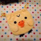 【發現。好貨】拉拉熊 鼻孔雞 小雞 黃色小鴨 束口袋 收納袋 化妝包 衛生棉包