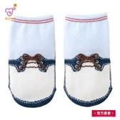 日本製 純綿男童襪 (卡其色蝴蝶結)