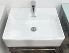 【麗室衛浴】簡潔美觀小空間最大容量 小方盆C-165 檯上盆含白鐵支撐架 適合營業場所