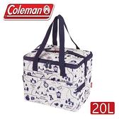 【 Coleman 美國 20L 露營地圖保冷袋】 CM-33435/保冰袋/野餐/野外露營