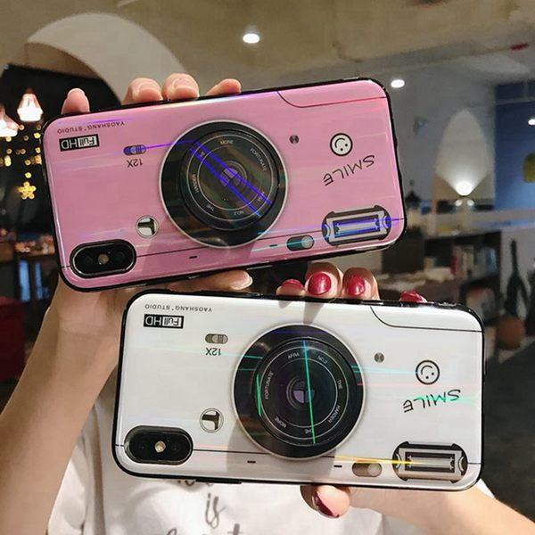OPPO Find X 手機殼 創意 藍光 相機 保護套 全包 防摔 軟邊 保護殼 3D 立體 氣囊支架 手機套