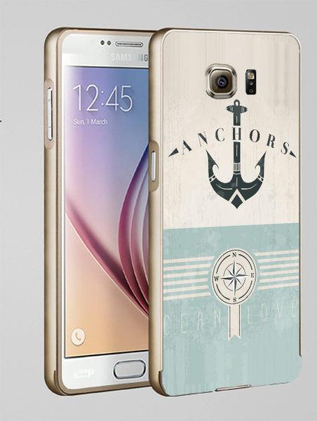 ♥ 俏魔女美人館 ♥Samsung Galaxy S7/s7 Edge {金屬邊框*海軍風  } 手機殼 手機套 保護殼