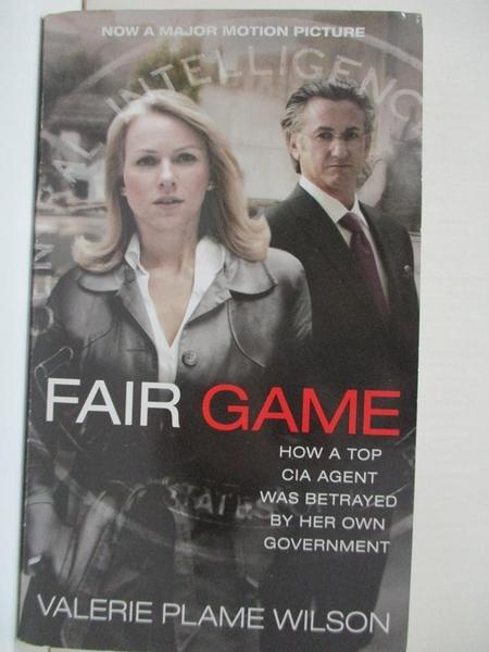 【書寶二手書T1/原文小說_HGD】Fair Game: How a Top CIA Agent Was Betrayed…